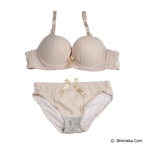 YOU'VE Alodie star Bra Set Size 36 [229] - Brown - Bra Set